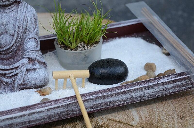Da tavolo Zen Garden sabbia tabella Buddha meditazione creativa home hotel feng shui decorazione di Candela di Incenso Bruciatore di Complementi Arredo Casa Regalo 3