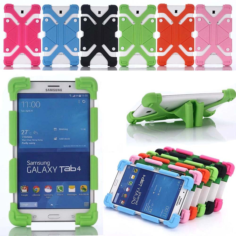 Universal 7-8 inch Tablet Case Soft Silicone Shockproof Cover Flexible Frame For 7 7.9 8 Tablet PC for Samsung HuaweiUniversal 7-8 inch Tablet Case Soft Silicone Shockproof Cover Flexible Frame For 7 7.9 8 Tablet PC for Samsung Huawei
