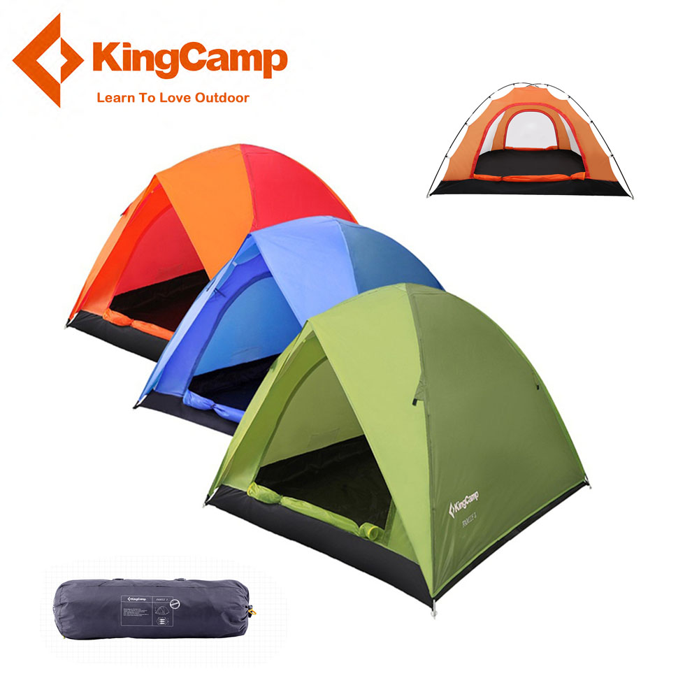 KingCamp 3-Person 2-Season Outdoor Camping Tent for Mountaineering Rainproof Windproof Ultralight Tents for Trekking Hiking fiio a3 silver