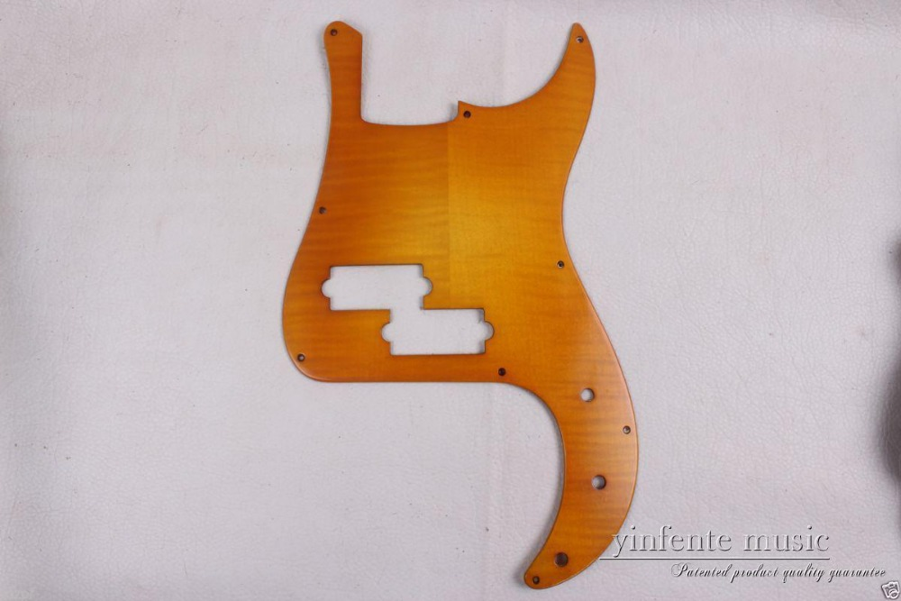 New Electric Bass Guitar pickguard Maple wood Guitar parts Hand made #1836 handmade new solid maple wood brown acoustic violin violino 4 4 electric violin case bow included
