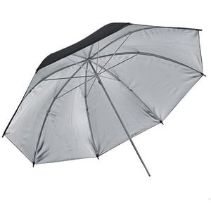 """Image 2 - Gododx 40 """"/101 cm profesjonalne Studio fotograficzne oświetlenie odblaskowe czarny srebrny parasol"""
