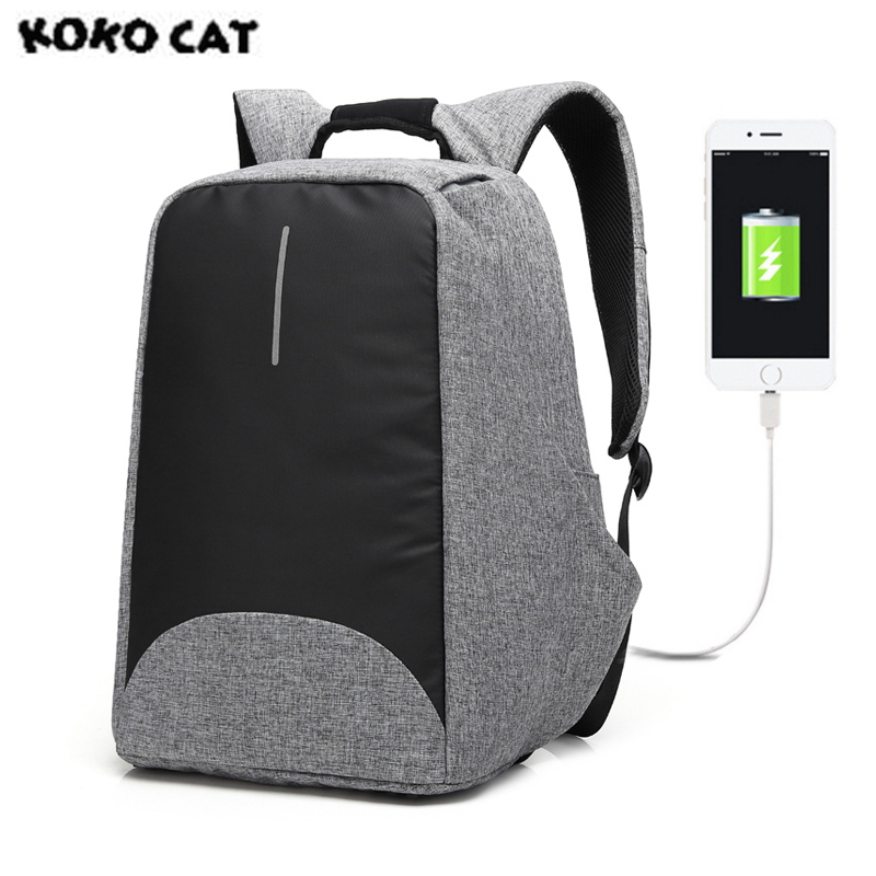 KOKOCAT USB Unisex Design Backpack  Bags for School Casual Rucksack Daypack Oxford Canvas Laptop Fashion Man Backpacks