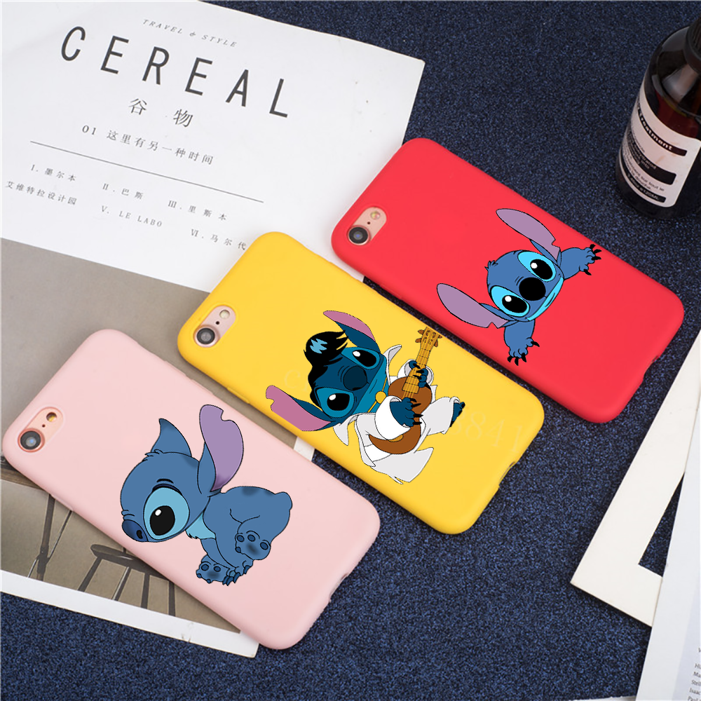 Lovely cartoon Stitch colour Silicone Soft TPU Phone Cases For iPhone5 5s se 6 6p 6s 8 8Plus X 7 7Plus XR Xs Max