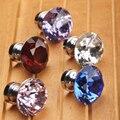 Diâmetro 30 mm colorido cristal diamante porta puxadores puxa armário alças maçanetas de gaveta do armário móveis Hardware