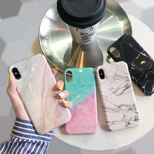 Granite marble stone print case for iphone7 xs max 8plus hard plastic glossy cover iphone 7 8 6 s Plus xr x coque i10