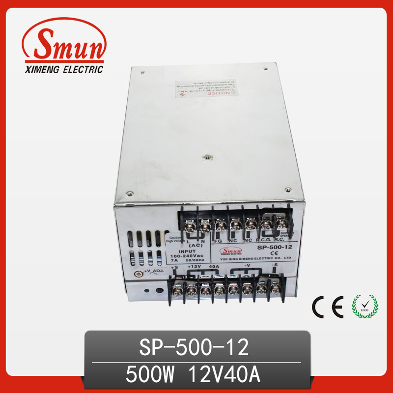500W 12V With PFC Single Output Switching Power Supply With CE ROHS From China Supplier Industrial And Led Used 125a 220v 2p e industrial male plug 3pins with ce rohs 1 year warranty