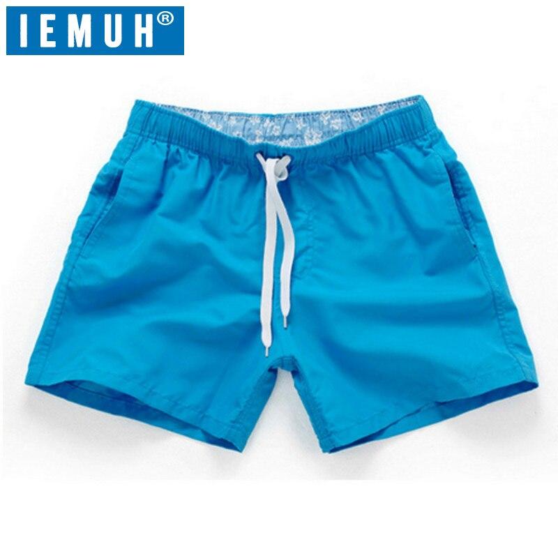 Pantalones cortos de playa de verano de marca IEMUH para hombre pantalones cortos de deporte de ocio para correr pantalones cortos de secado rápido para Surf de mar para hombre pantalones cortos
