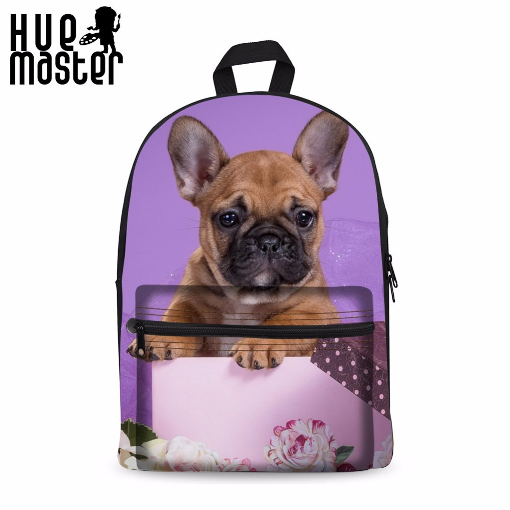 Hue Master Canvas Laptop Backpacks Daily School Bags For College Students Pet Dog Prints Rucksack Female Mochila Rodinha Rugzak Backpacks Luggage & Bags