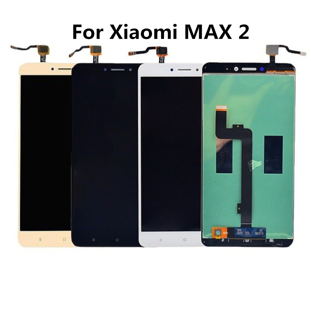 Black White Gold <font><b>Mi</b></font> Max2 1920x1080 6.44'' LCD <font><b>Display</b></font> + Touch Screen Digitizer Complete Assembly Replacement For <font><b>Xiaomi</b></font> <font><b>Max</b></font> 2 image