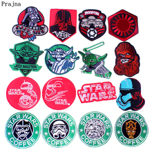 Prajna DIY Star Wars Patch Iron On Patches Clothes Stripes Embroidered For Clothing Applique Cartoon Badge T-shirt