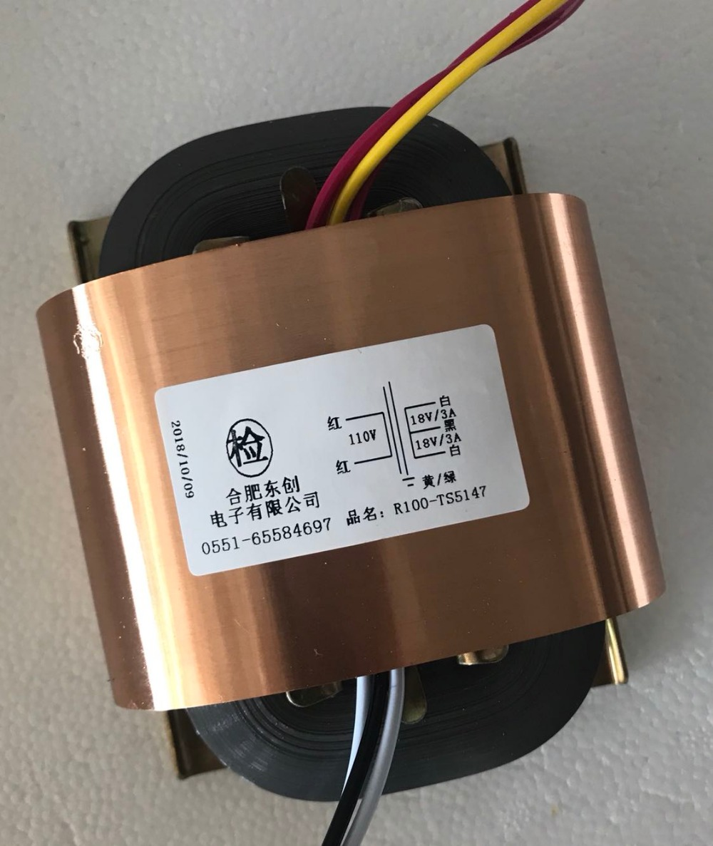 18V-0-18V 3A R Core Transformer 100VA R100 custom transformer 110V input copper shield Power amplifier терморегулятор devi devireg smart polar white 140f1140