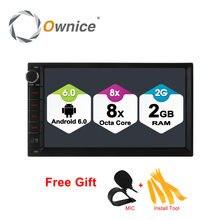 Ownice C500 Android 6.0 Octa 8 core Radio 2 DIN 2 GB RAM 32 GB ROM universal GPS radio wifi Soporte 4G LTE Red DAB + no dvd