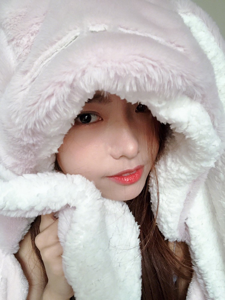 Cute Pink Comfy Blanket Sweatshirt Winter Warm Adults and Children Rabbit Ear Hooded Fleece Blanket Sleepwear Huge Bed Blankets 40