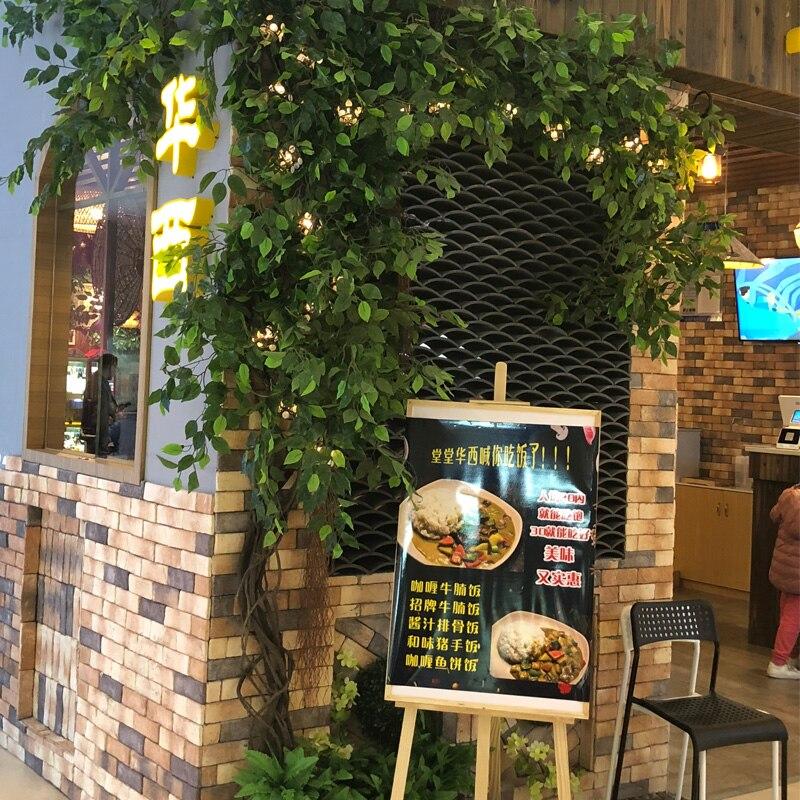Acheter Vert Banyan Tree Feuille Branche Soie Plante Artificielle Pour Le Mariage La Maison Bureau Décoration extérieure Fournir Real Touch Feuilles Tropicales de artificial plants fiable fournisseurs