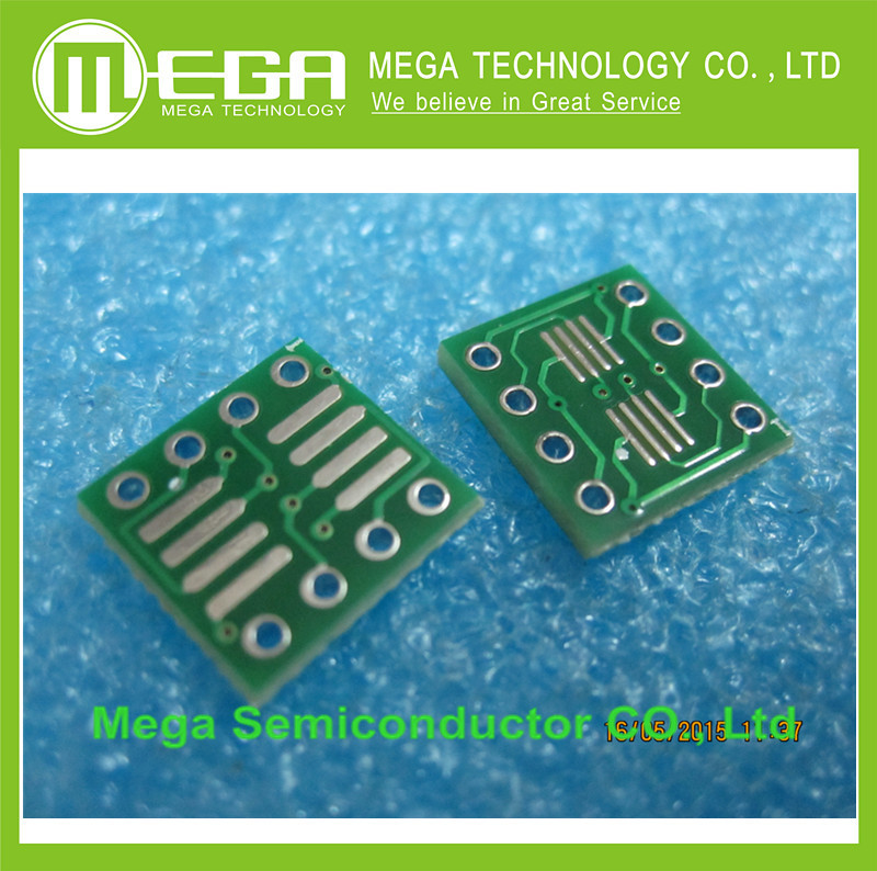 100PCS SO8 MSOP8 SOIC8 TSSOP8 SOP8 Turn DIP8 IC Adapter Socket Adapter Plate PCB PB-FREE Without Pin Header