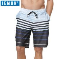 Board Shorts IEMUH Men Beach Short Quick Dry Swimwear Men Sweat Board Shorts Gmy Running Shorts Surfing Joggers Beachwear Sports