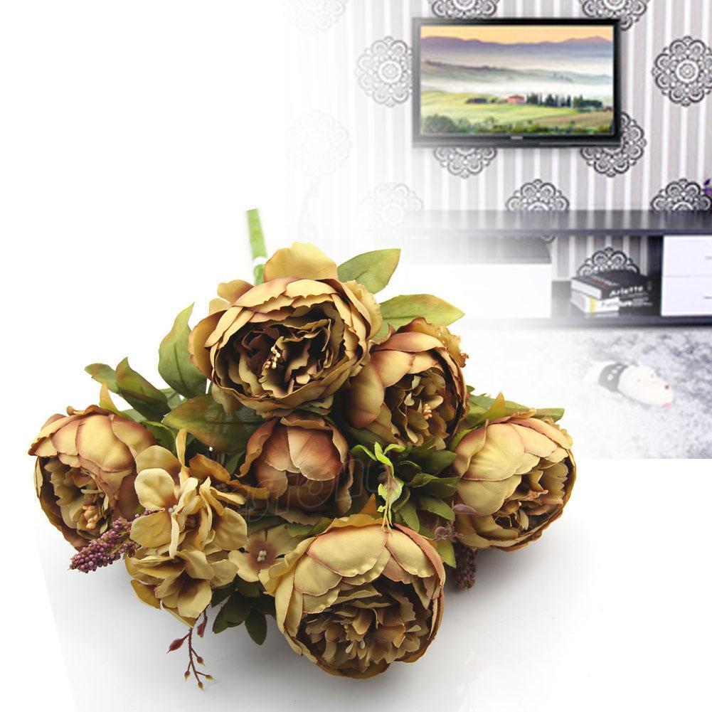 Quality Silk Flowers European Bouquets Artificial Flowers Vivid 10