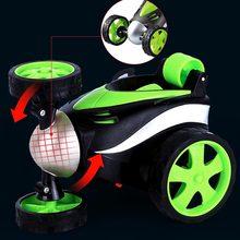 Coche acrobático teledirigido controlado por control remoto, Mini coche con ruedas giratorias divertidas, juguetes para niños, regalos de cumpleaños
