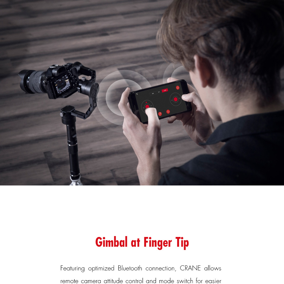 ZHIYUN Official Crane V2 3-Axis Brushless Handheld Gimbal Stabilizer Kit GODX
