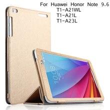 Para huawei mediapad t1 10 case del cuero del tirón para huawei honor nota 9.6 T1-A21W T1 10 T1-A21L T1-A23L cubierta + Protector de Pantalla
