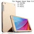 Para huawei mediapad t1 10 leather flip case para huawei honor nota 9.6 T1 10 T1-A21L T1-A21W T1-A23L capa + Protetor de Tela