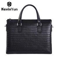KEVIN YUN Designer Brand Men Handbag Genuine Leather Bag Male Shoulder Messenger Bags Business Men Briefcase