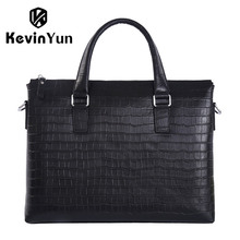 KEVIN YUN designer brand men handbag genuine leather bag male shoulder messenger bags business men briefcase laptop bag