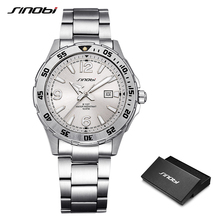 SINOBI 10Bar Waterproof Mens Diving Sports Wrist Watches Auto Date 2018 Top Luxury Brand Luminous Males Geneva Quartz-watch 007