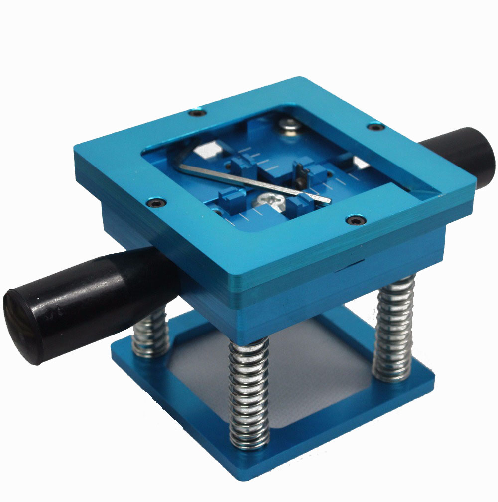 Blue BGA reballing kit 90*90mm BGA reballing station with hand shank Gift 10/PCS BGA Universal Stencil стоимость