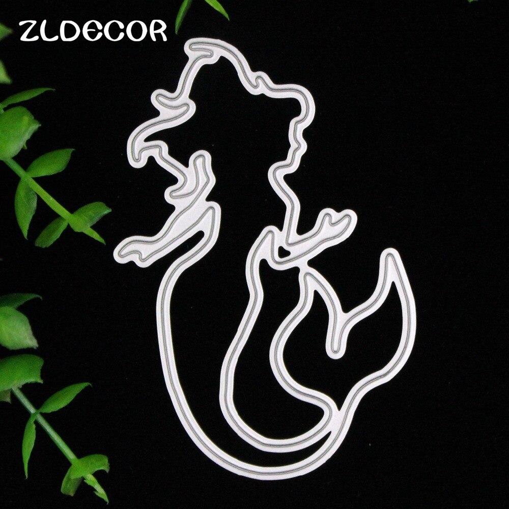 ④Zldecor sirena metal Recortes de papel plantillas para DIY ...