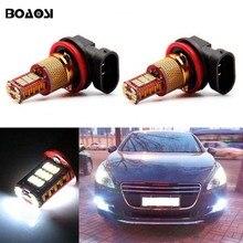 Boaosi 2X H11 высокое Мощность светодиодные лампы Туман света вождения DRL Освещение для Peugeot 301 3008 407