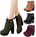 Mujeres botas 2016 de la moda de tacón alto botas de invierno las mujeres calientes del tobillo patea los zapatos