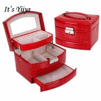 It S Yiiya Fashion PU Large Cosmetic Bags Makeup Bag Casual Alligator Pattern Hiqh Quality Storage