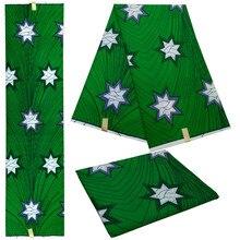 New Fashion Green Purple Cotton Batik DIY Fabric