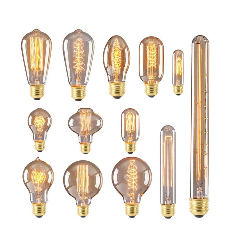 Retro Edison Gloeilamp E27 220 V 40 W ST64 G95 Lamp Vintage Gloeilamp - Binnenverlichting - Foto 5