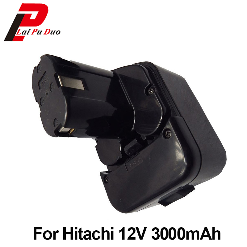 Power Tool Replacement Battery 3.0Ah 12V NI-MH For Hitachi :EB1214S,FWH12DF,EB1220HL,DS12DVF2,EB1220HS,WH12DM2,EB1230X for hitachi 12v 1 5ah ni cd replacement power tool battery for hitachi eb1212s eb1214l eb1214s eb1222hl eb1230x eb1220bl 322629