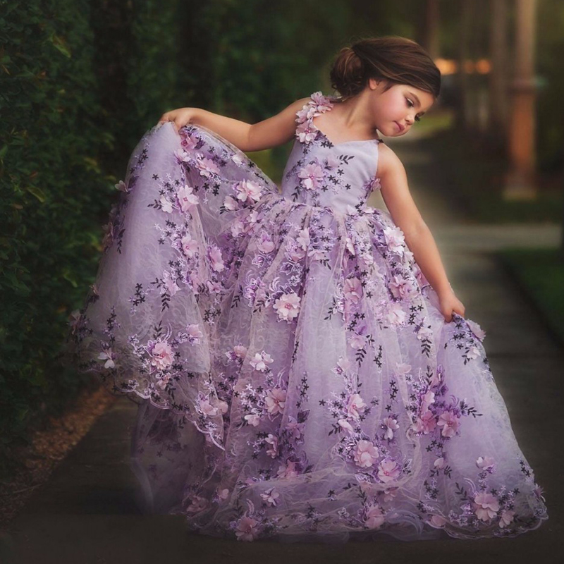 New pretty lace flower girl dress pageant dress 2017 for Dresses for girls for wedding