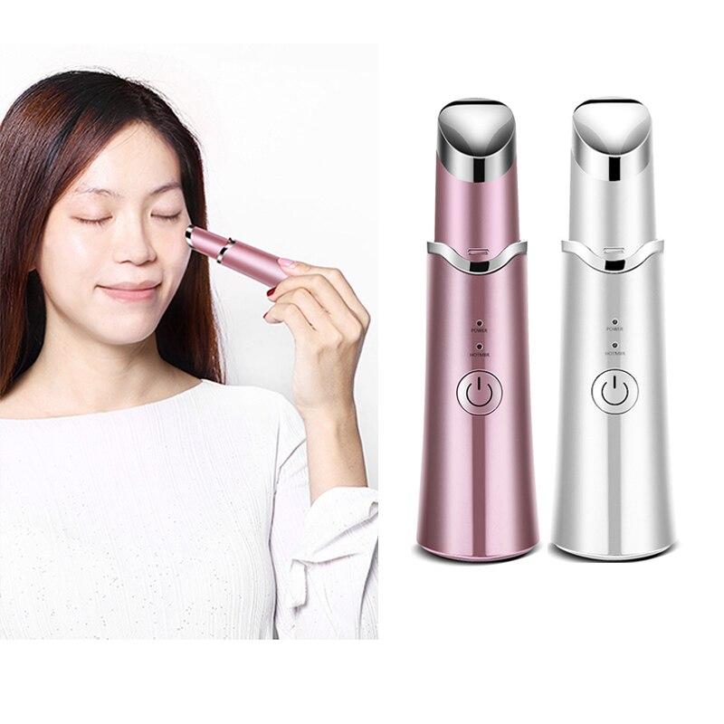 Heated Sonic Wrinkle Beauty Instrument Device Fade Dark Circles Eye Bags Mini Electric Vibrating Anti-wrinkle Lips Eye Massager