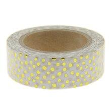 White Dots Foil Washi Tape Scrapbooking Tools Cute Decorative Cinta Adhesiva Decorativa Japanese Stationery Washi Tapes Mask