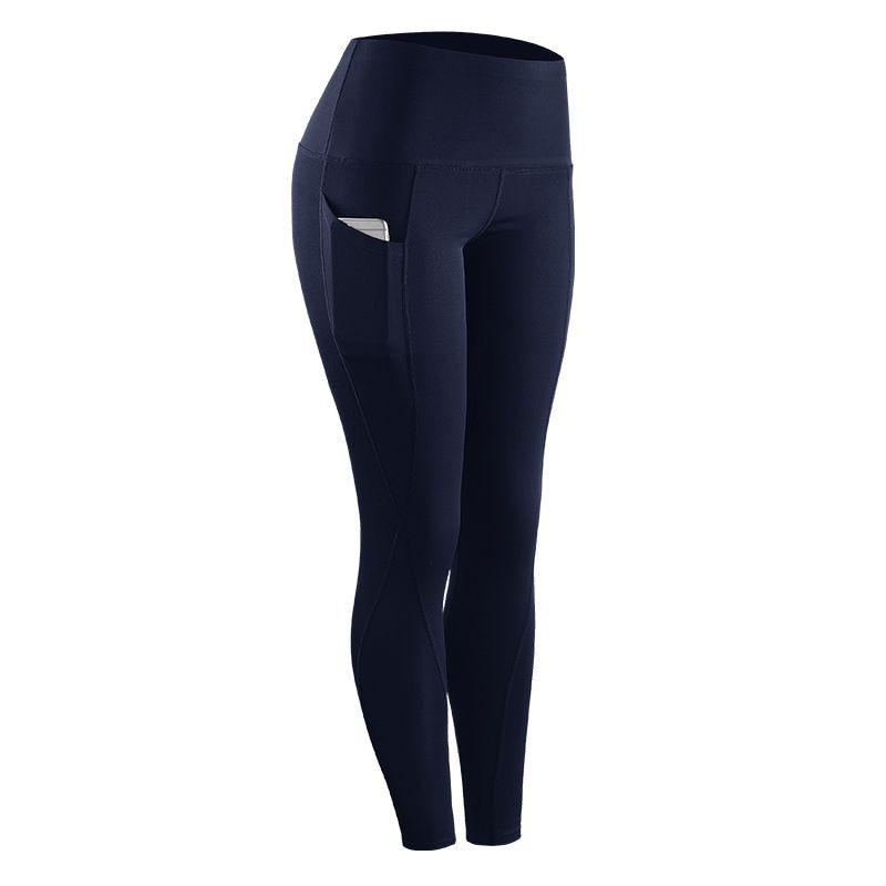Women's Riding Fitness Elastic Compression Leggings High-Waist Sports Leggings Belt Training Fitness Pants