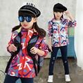 Новая Коллекция Весна Осень Дети Девушки Верхняя Одежда Ветровки пальто Дети Активные Одежда Водонепроницаемый Ветрозащитный Пальто Outwears