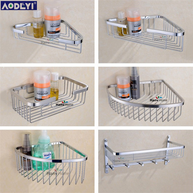 Wall mounted Stainless Steel Bathroom Shelf Bracket Shelves basket ...