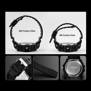 Image 5 - SKMEI dijital saat Erkekler S Şok Spor Saatler Askeri Su Geçirmez Büyük Arama Çift Ekran Kuvars Saat Erkekler Relogio Masculino 1357