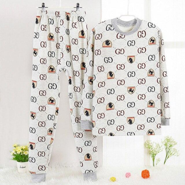 Pijamas Clothing set Cotton fleece Children Winter set Printing Pijama infantil frio Warmed Pajamas kids Pyjama age 6y-14y