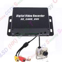 1 canales cctv mini dvr, tarjeta sd micro grabación audio 940nm visión nocturna sistema de cámara