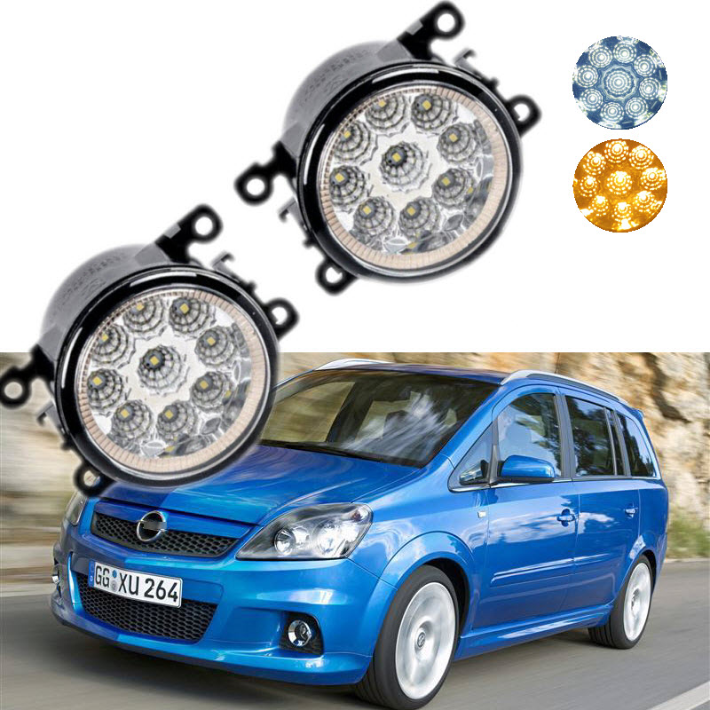 For Opel Zafira OPC 2005-2011 9-Pieces Leds Chips LED Fog Light Lamp H11 H8 12V 55W Halogen Fog Lights Car Styling eemrke car styling for opel zafira opc 2005 2011 2 in 1 led fog light lamp drl with lens daytime running lights