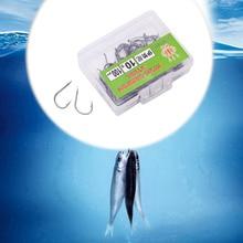 100Pcs Baitholder Carp Fly Fishing Bait Sharpened Hook Fishhook Tackle Jig New