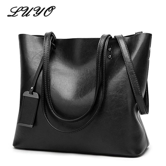 0a6641e293 LUYO Brand Vintage Patent Leather Bag For Female Tote Luxury Handbag Women  Bags Designer Shoulder Atmosphere Basket Bag