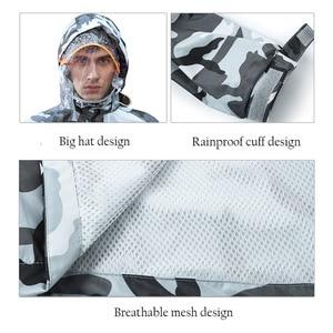 Image 5 - Chubasquero de camuflaje para hombre y mujer, ropa impermeable para exteriores, para pesca, Camping, lluvia