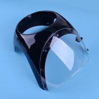DWCX 17cm Motorcycle Cafe Racer Headlight Fairing Screen Windshield Retro Drag Racing Light Fairing